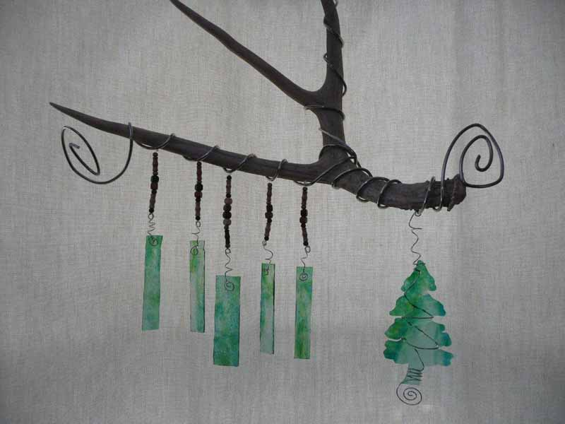 Antler tree wind chime
