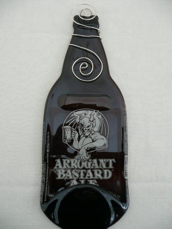 Arrogant Bastard Melted Beer Bottle Cheese Board