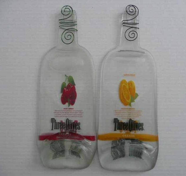 Three Olives Melted Liquor Bottle Cheeseboard